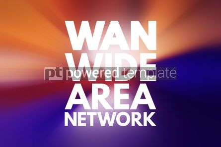 Business: WAN - Wide Area Network acronym technology concept background #16734