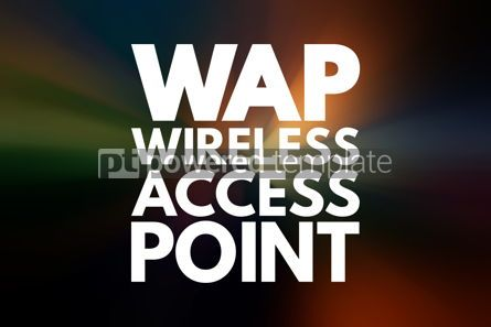 Business: WAP - Wireless Access Point acronym technology concept backgrou #16735