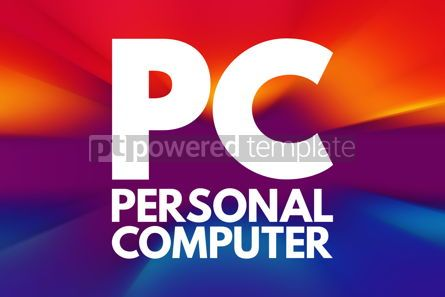 Business: PC - Personal Computer acronym technology concept background #16738