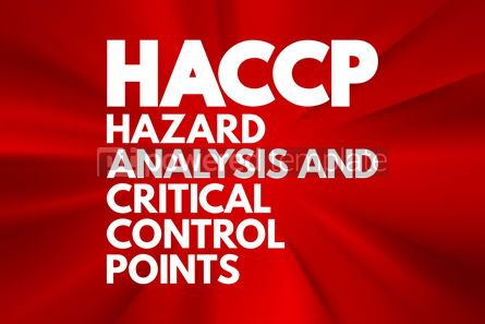 Business: HACCP - Hazard Analysis and Critical Control Points acronym con #16749