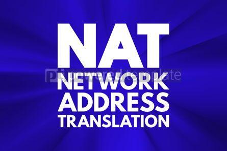 Business: NAT - Network Address Translation acronym technology concept ba #16750