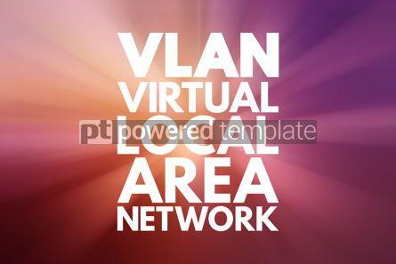 Business: VLAN - Virtual Local Area Network acronym technology concept ba #16755