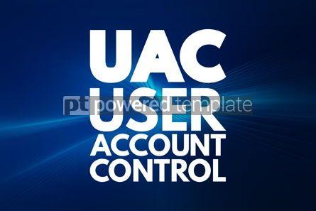 Business: UAC - User Account Control acronym technology concept backgroun #16763