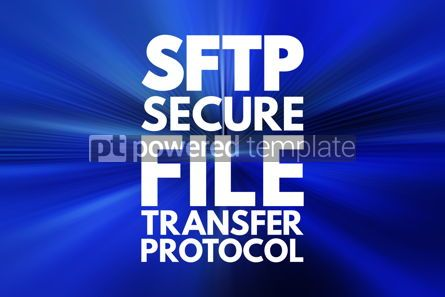 Business: SFTP - Secure File Transfer Protocol acronym technology concept #16768