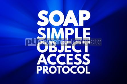 Business: SOAP - Simple Object Access Protocol acronym technology concept #16771