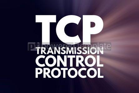 Business: TCP - Transmission Control Protocol acronym technology concept #16779