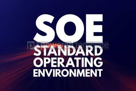 Business: SOE - Standard Operating Environment acronym technology concept #16781
