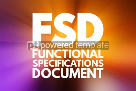 Business: FSD - Functional Specifications Document concept background #16782