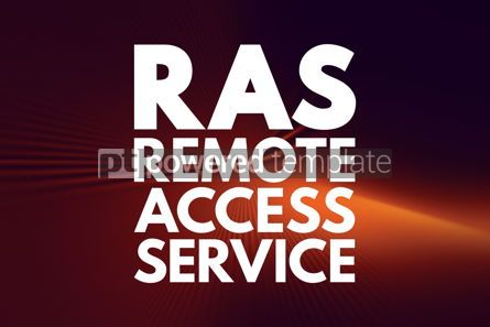Business: RAS - Remote Access Service acronym technology concept backgrou #16784