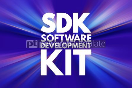 Business: SDK - Software Development Kit acronym technology concept backg #16788