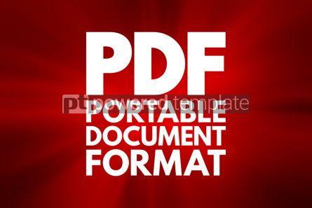 Business: PDF - Portable Document Format acronym technology concept backg #16794