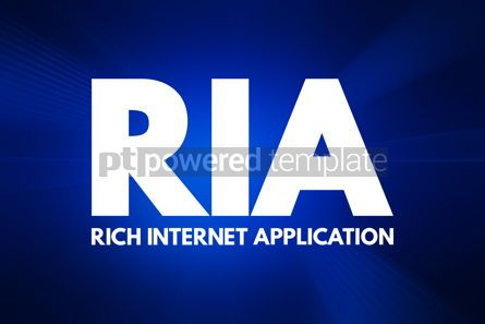 Business: RIA - Rich Internet Application acronym technology concept back #16797