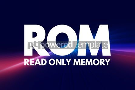 Business: ROM - Read Only Memory acronym technology concept background #16798