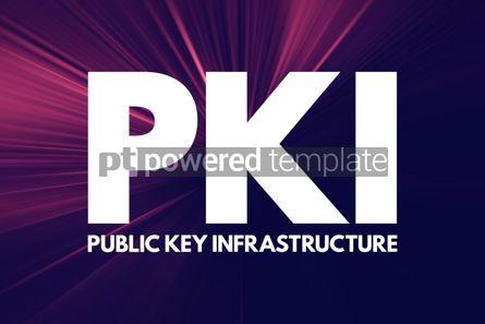 Business: PKI - Public Key Infrastructure acronym technology concept back #16805