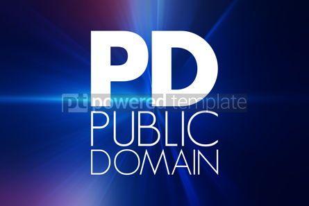 Business: PD - Public Domain acronym concept background #16807