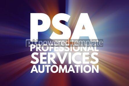 Business: PSA - Professional Services Automation acronym technology conce #16808