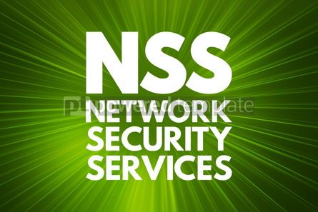 Business: NSS - Network Security Services acronym technology concept back #16812