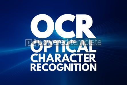Business: OCR - Optical Character Recognition acronym technology concept #16813