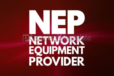 Business: NEP - Network Equipment Provider acronym technology concept bac #16814