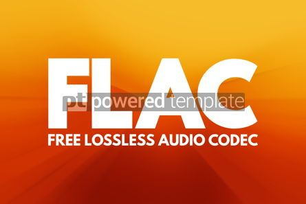 Business: FLAC - Free Lossless Audio Codec acronym technology concept bac #16815