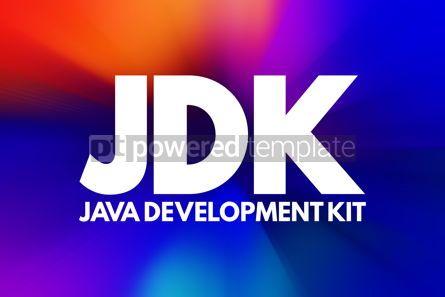 Business: JDK - Java Development Kit acronym technology concept backgroun #16816