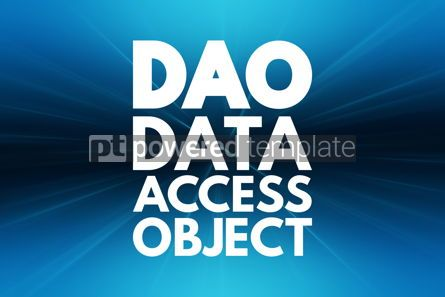 Business: DAO - Data Access Object acronym technology concept background #16835