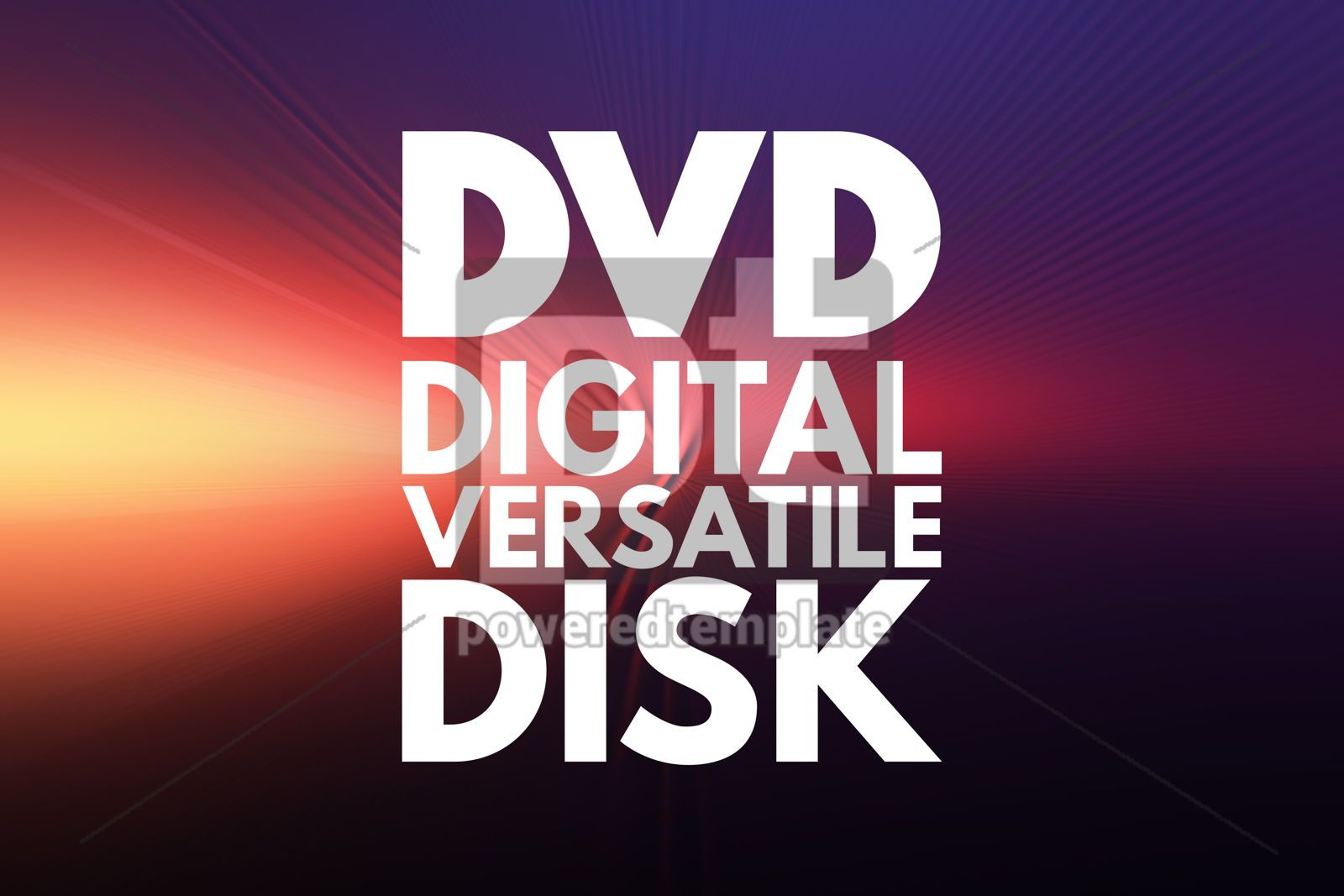 DVD - Digital Versatile Disk acronym technology concept backgro, 16840, Business — PoweredTemplate.com