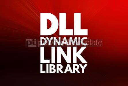 Business: DLL - Dynamic Link Library acronym technology concept backgroun #16841