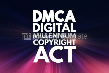 Business: DMCA - Digital Millennium Copyright Act acronym technology conc #16844