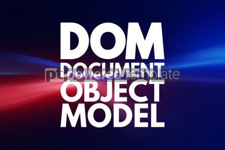 Business: DOM - Document Object Model acronym technology concept backgrou #16847