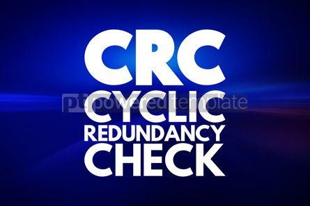 Business: CRC - Cyclic Redundancy Check acronym technology concept backgr #16848