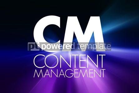 Business: CM - Content Management acronym business concept background #16850