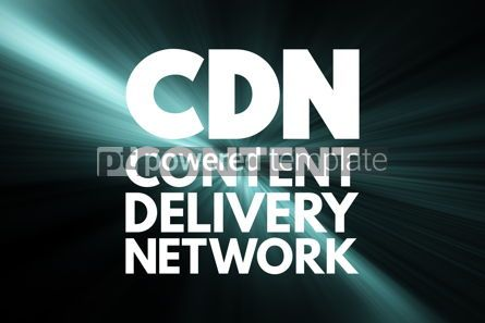 Business: CDN - Content Delivery Network acronym technology concept backg #16852