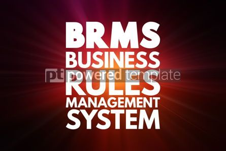 Business: BRMS - Business Rules Management System acronym concept backgro #16854