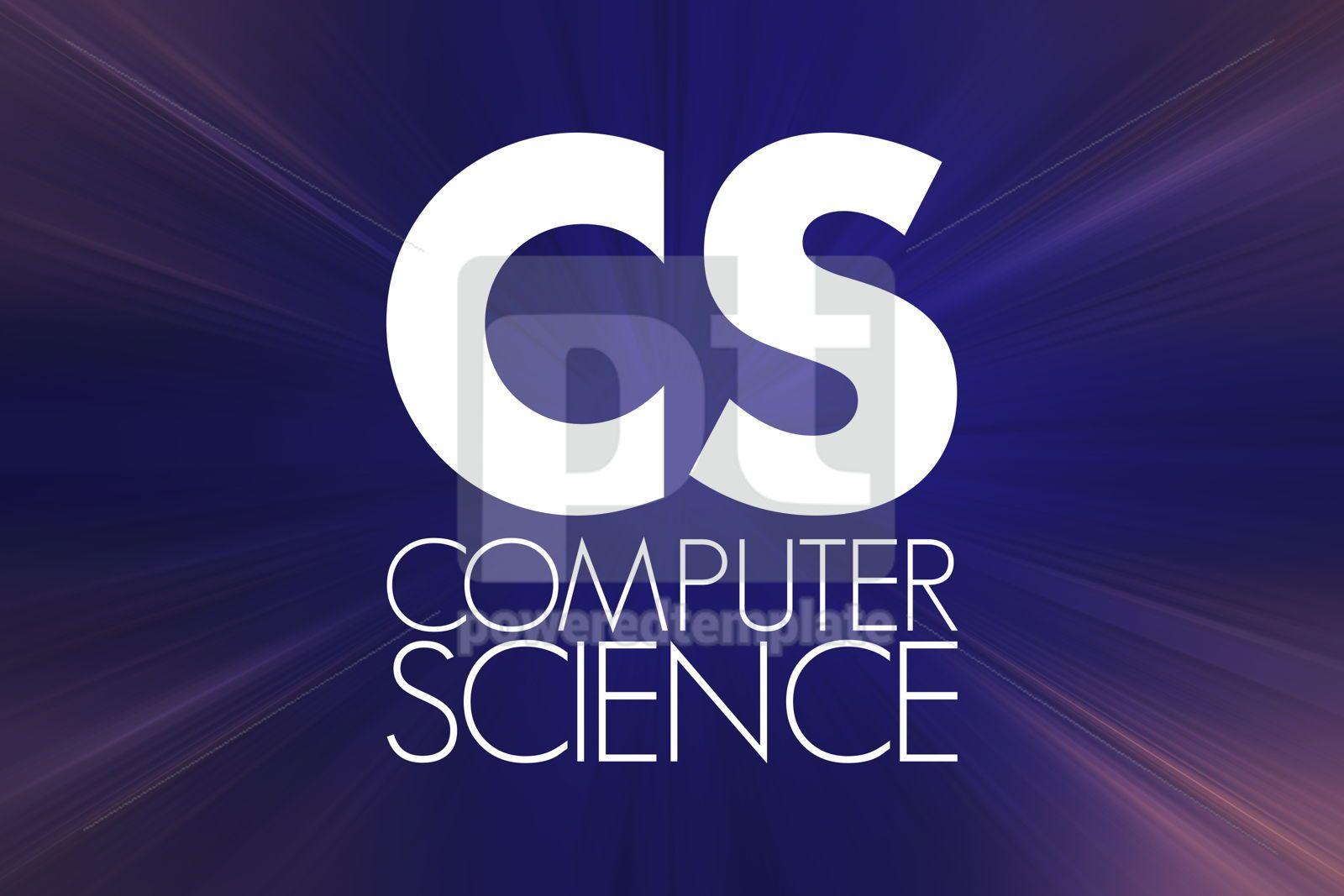 CS - Computer Science acronym technology concept background, 16858, Business — PoweredTemplate.com