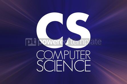 Business: CS - Computer Science acronym technology concept background #16858