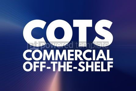 Business: COTS - Commercial Off-the-Shelf acronym business concept backgr #16863