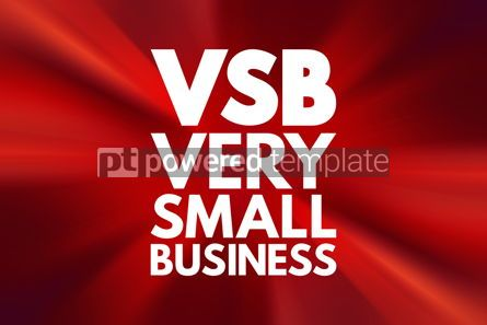 Business: VSB - Very Small Business acronym business concept background #16866