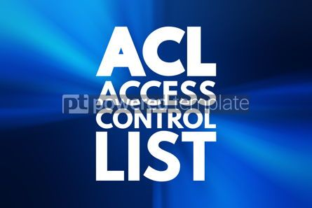 Business: ACL - Access Control List acronym technology concept background #16875