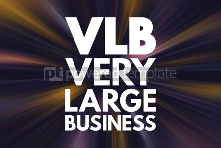 Business: VLB - Very Large Business acronym business concept background #16878