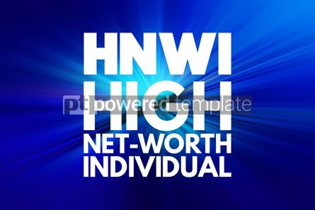 Business: HNWI - High Net-Worth Individual acronym business concept backg #16880
