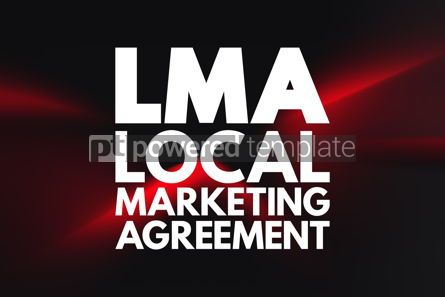 Business: LMA - Local Marketing Agreement acronym business concept backgr #16881