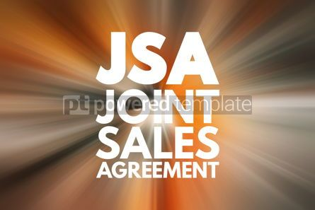 Business: JSA - Joint Sales Agreement acronym business concept background #16887