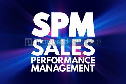 Business: SPM - Sales Performance Management acronym business concept bac #16889