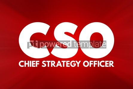 Business: CSO - Chief Strategy Officer acronym business concept backgroun #16893