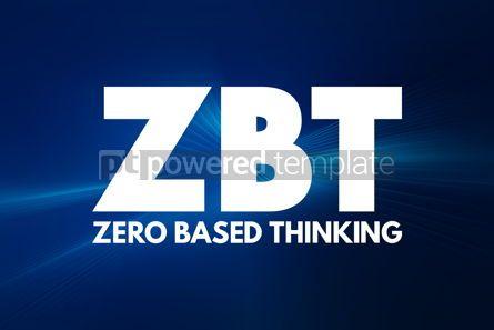 Business: ZBT - Zero-Based Thinking acronym business concept background #16896