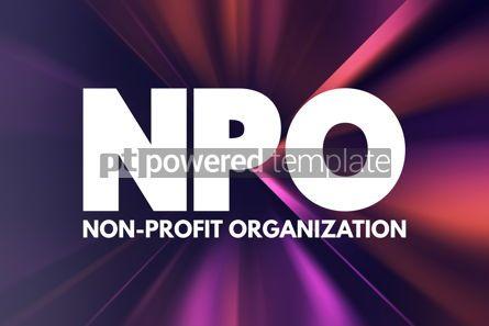 Business: NPO - Non-Profit Organization acronym business concept backgrou #16905
