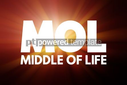Business: MOL - Middle of Life acronym business concept background #16906
