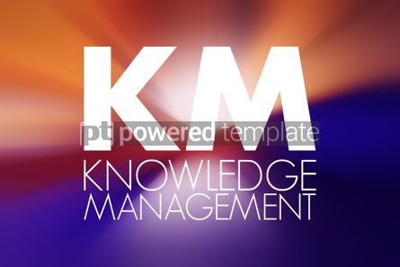 Business: KM - Knowledge Management acronym business concept background #16907