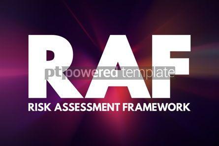 Business: RAF - Risk Assessment Framework acronym business concept backgr #16911